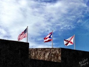 Flags at Castillo San Cristobal