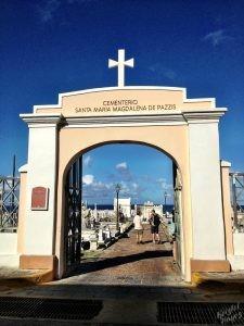 Gate into Santa María Magdalena de Pazzis Cemetery