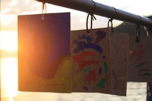 Oban: Handprints in the Evening Light