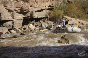 San Juan River: Scott & Karen at Government Rapid