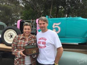 The Race of Gentlemen Pismo: David presenting Diana with Spirit Award