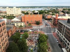Heart of Portland's Arts District From Above