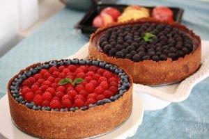 Raspberry and Blackberry Cheesecake