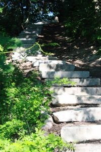 Steps at Stroudwater Trailhead