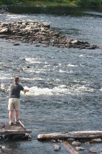 Fly Fishing at Long Lake Dam