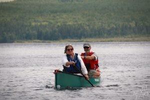 Stacy & Bill Paddling near Sandy Point