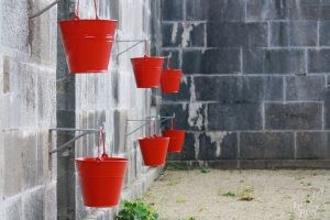 Red Buckets Spike Island-Cork Harbor, Ireland