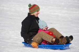 Welcome to Winter Festival | Dad and Daughter Sledding