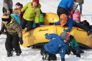 Welcome to Winter Festival | Kids Jumping Out of Sled