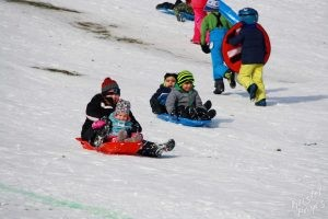 Welcome to Winter Festival | Kids Sledding and Running