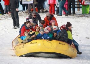 Welcome to Winter Festival | White Water Raft Sledding