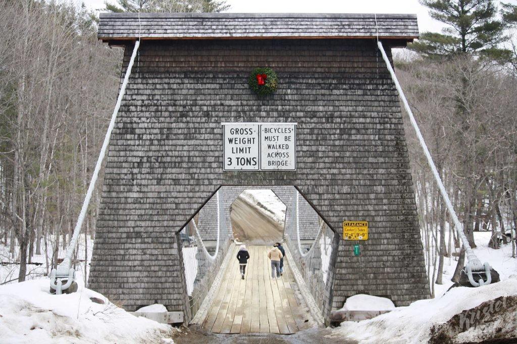 Wire Bridge in New Portland Maine