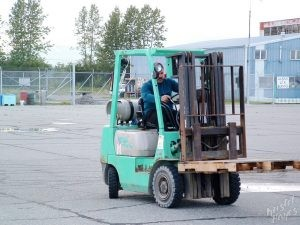Ernie Driving the Forklift