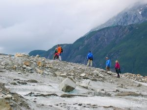 Hiking to Walker Glacier