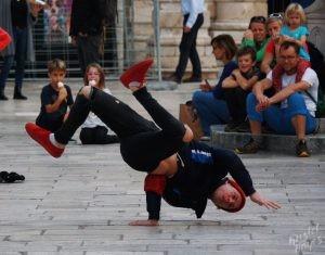 Breakdancer Standing on One Hand, Dubrovnik Croatia