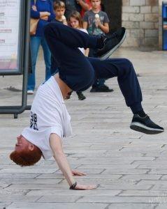Breakdancer Tumbling, Dubrovnik Croatia