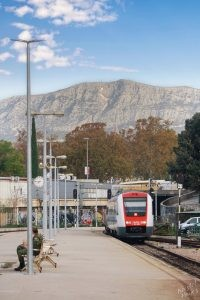 Train Arriving, Split Croatia
