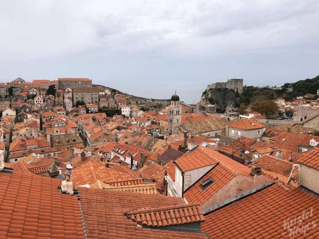 View From Above the Old City, Dubrovnik Croatia