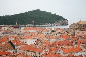 View From the Top of the Old City Wall, Dubrovnik Croatia