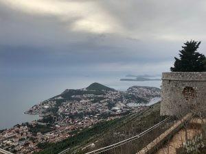 View from Mount Srd, Dubrovnik Croatia