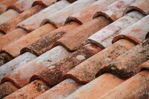 Worn Red Roof Tiles, Dubrovnik Croatia