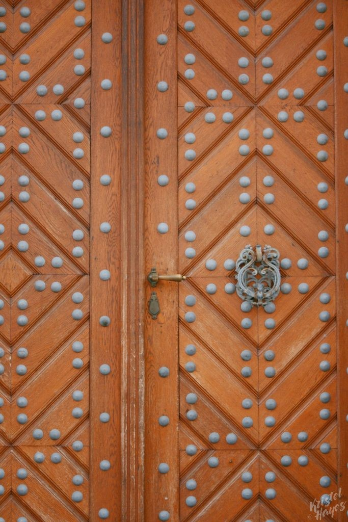 Loved the details on this door near Prague Castle