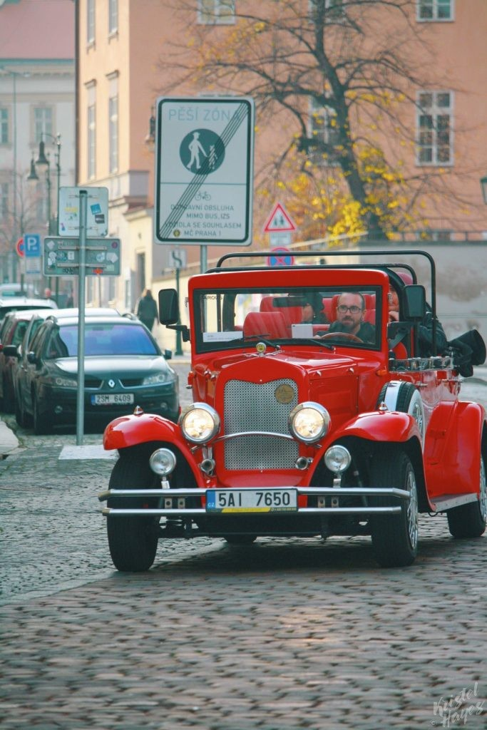 Touring Prague in a Vintage Car