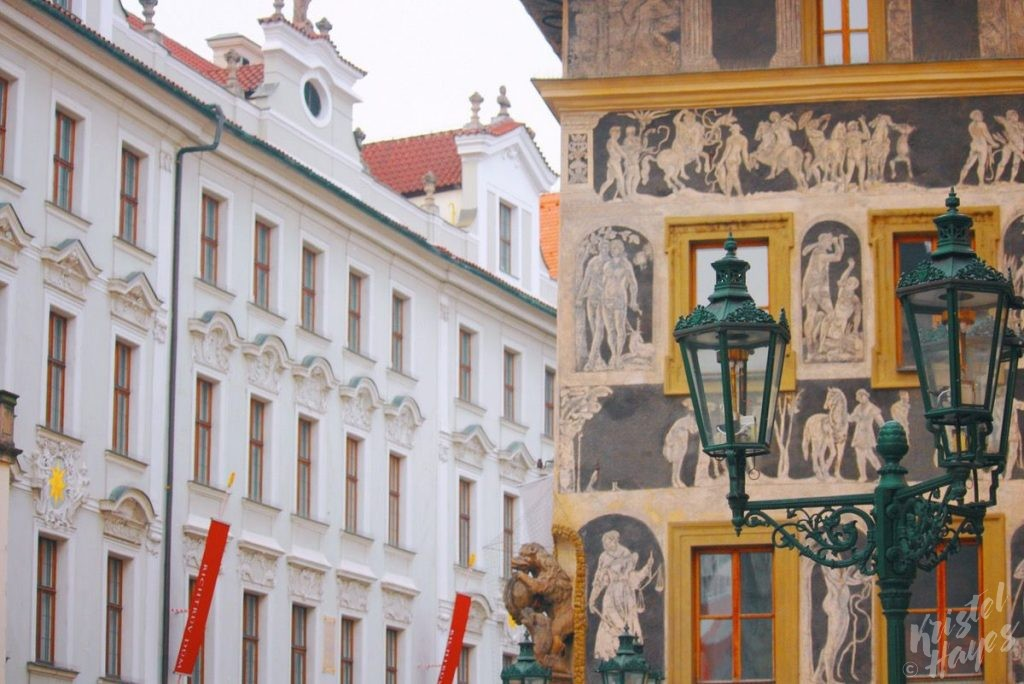 Architectural details in Old Town Prague