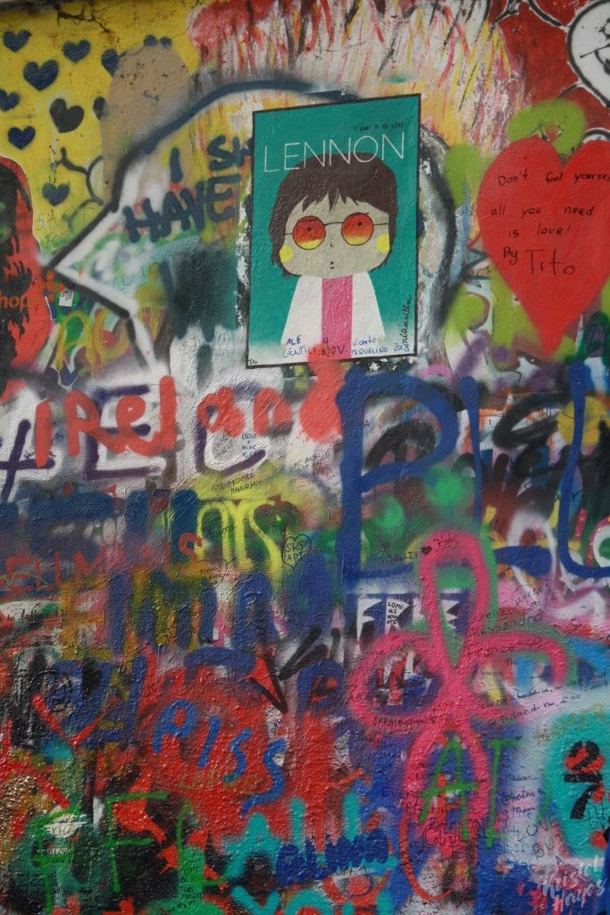 Graffiti on the John Lennon Wall