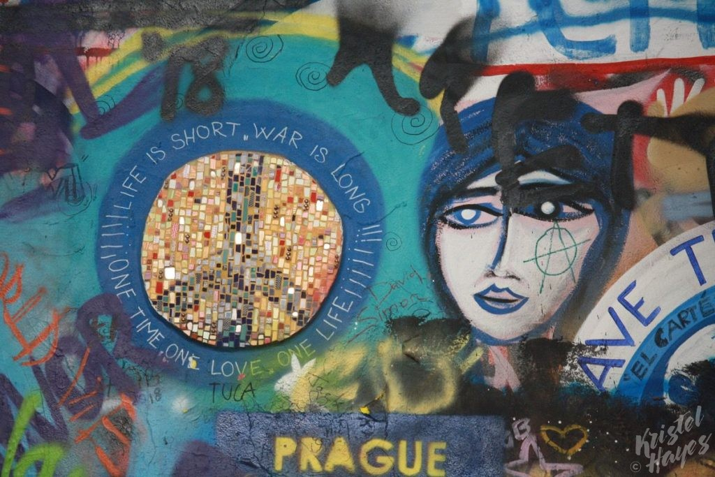 Sparkling Graffiti on the John Lennon Wall