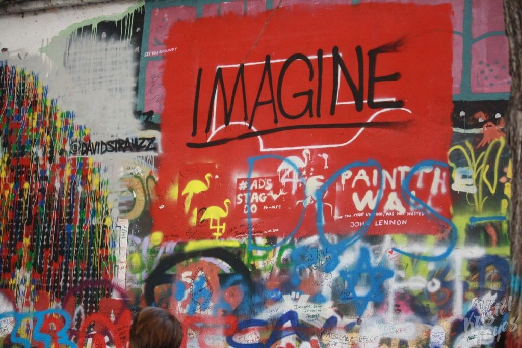 Imagine (Graffiti on the John Lennon Wall)